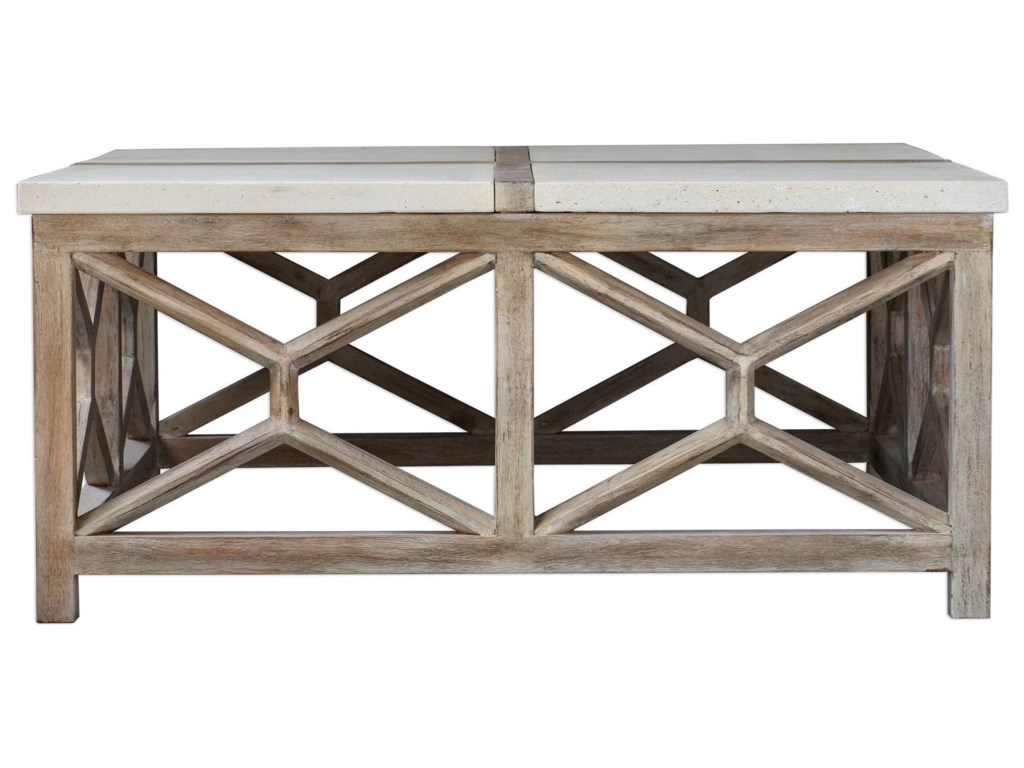 Uttermost Accent Furniture - Occasional TablesCatali Stone Coffee Table