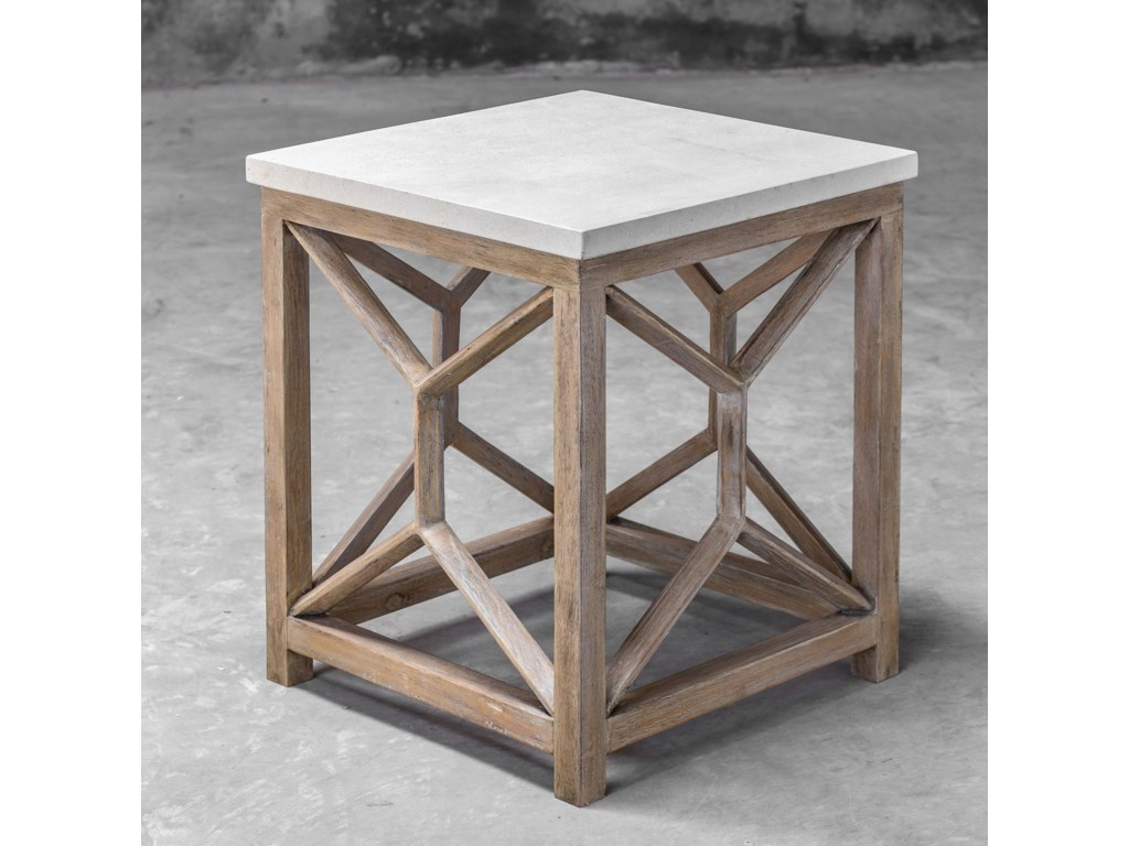 Uttermost Accent Furniture - Occasional TablesCatali Stone End Table