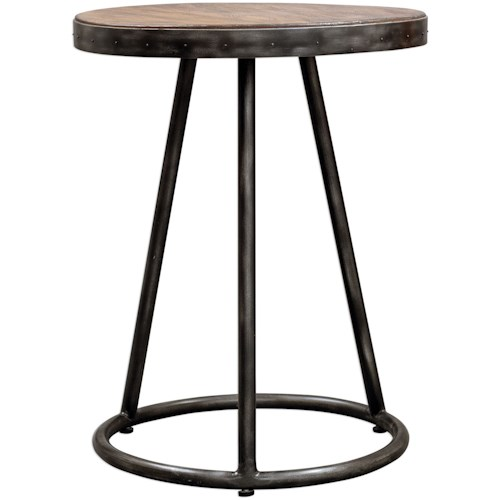 Uttermost Accent Furniture Hector Round Accent Table