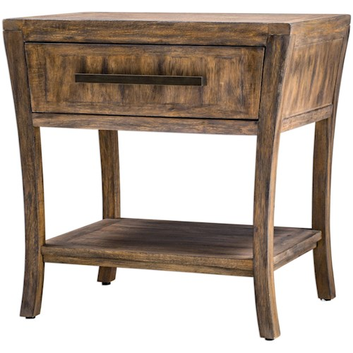 Uttermost Accent Furniture Marielle Wood End Table
