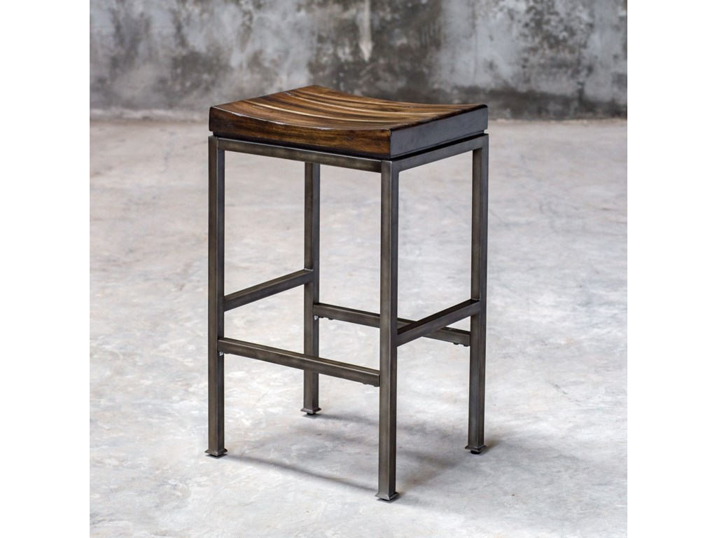 Uttermost Accent Furniture - StoolsBeck Industrial Bar Stool