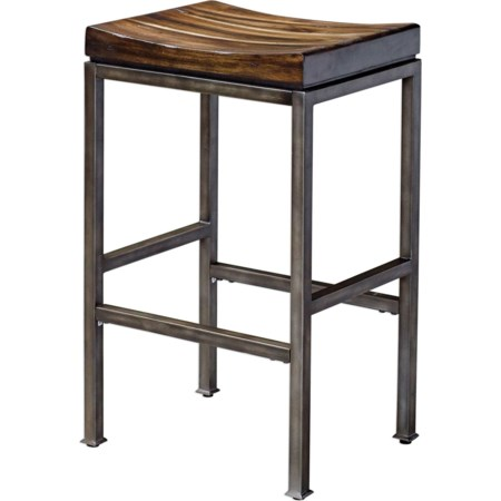 Beck Industrial Bar Stool
