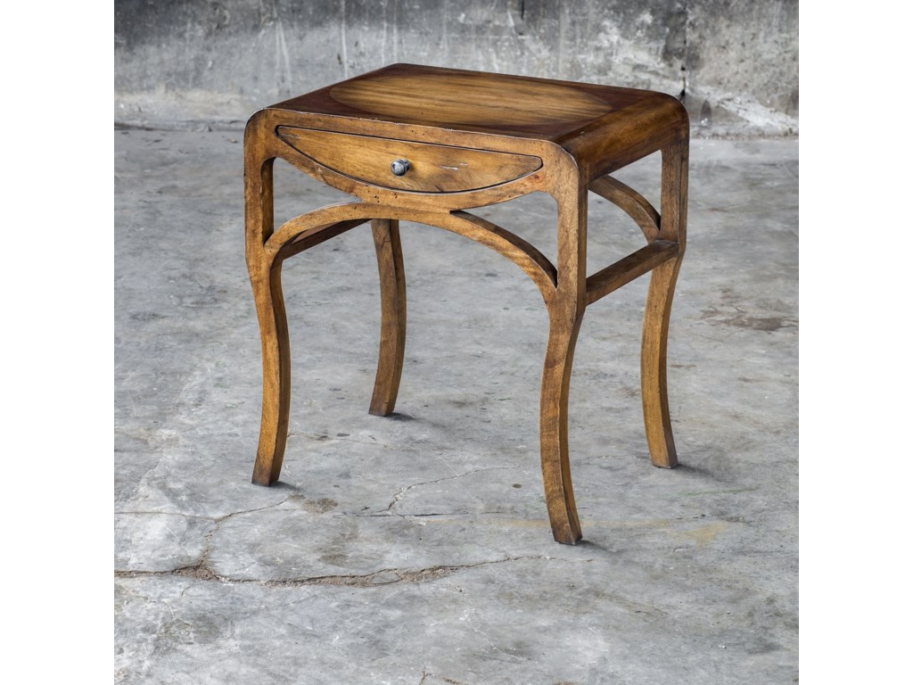 Uttermost Accent Furniture - Occasional TablesCheryth Pecan End Table