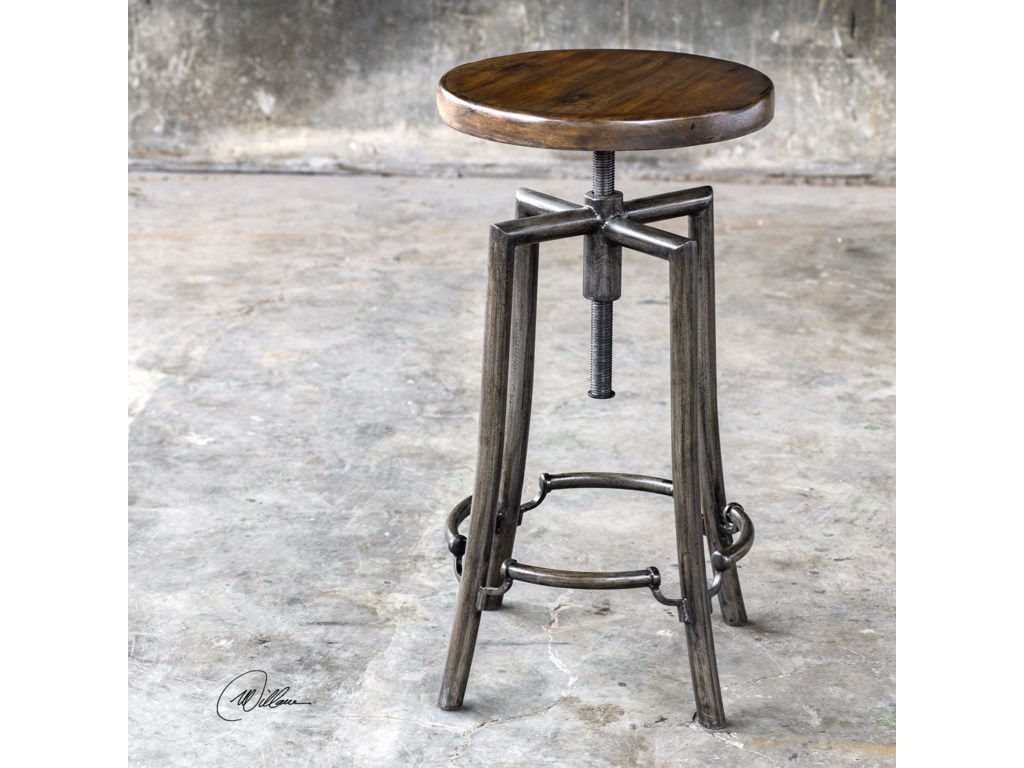 Uttermost Accent Furniture - StoolsWestlyn Industrial Bar Stool