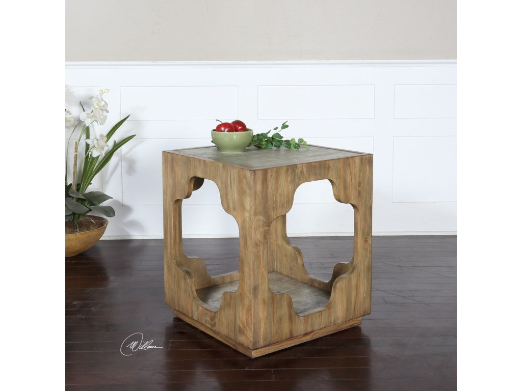 Uttermost Accent FurnitureKuba Square Accent Table