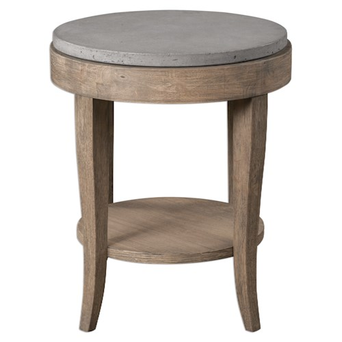 Uttermost Accent Furniture Deka Round Accent Table