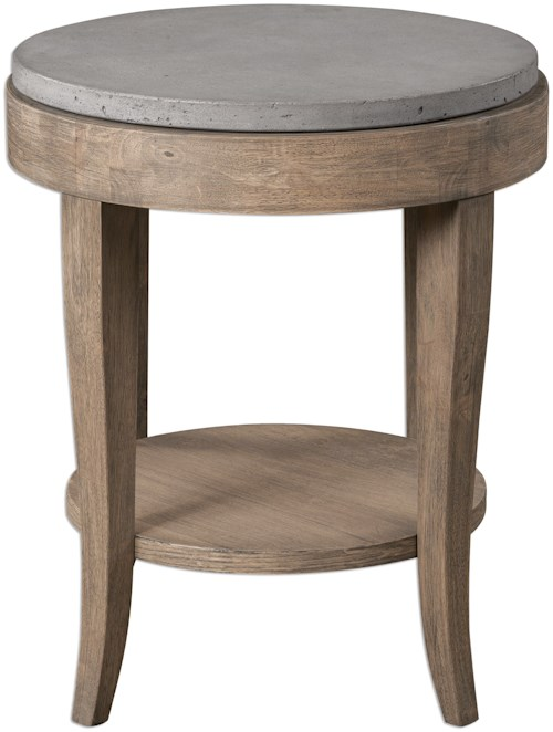Uttermost accent furniture deka round accent table for Furniture 0 percent financing
