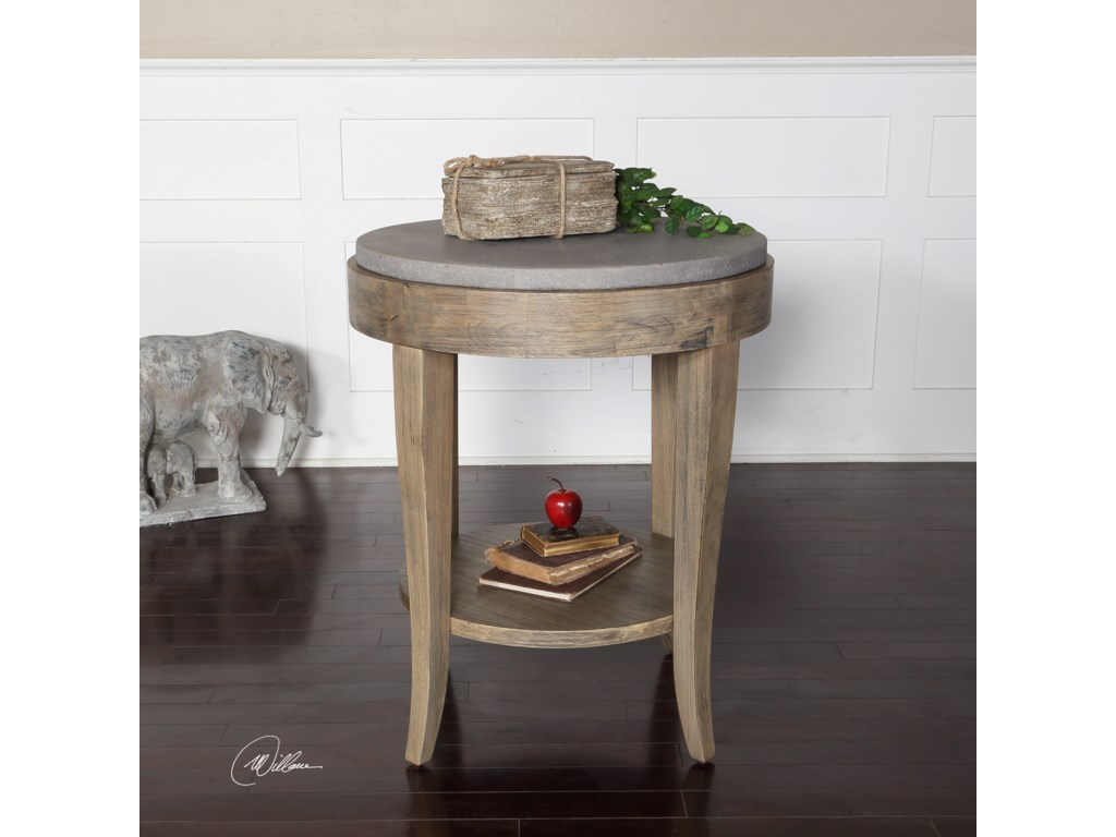 Uttermost Accent FurnitureDeka Round Accent Table