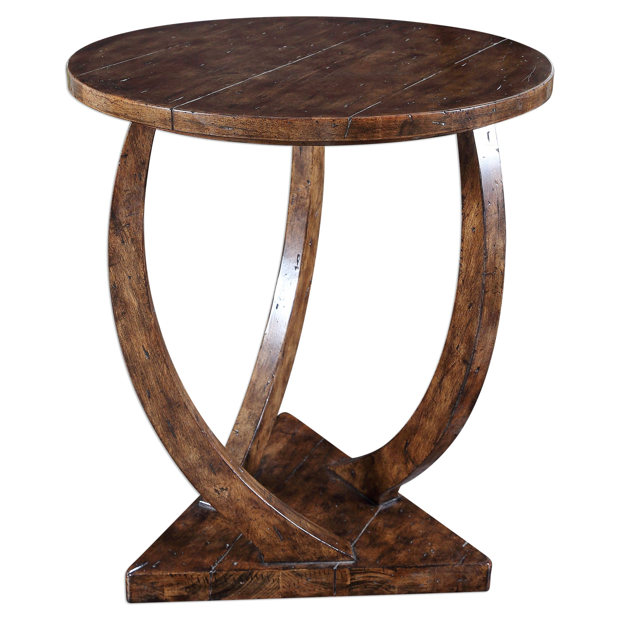 Medium image of uttermost accent furniture 25913 pandhari round accent table   becker furniture world   end tables