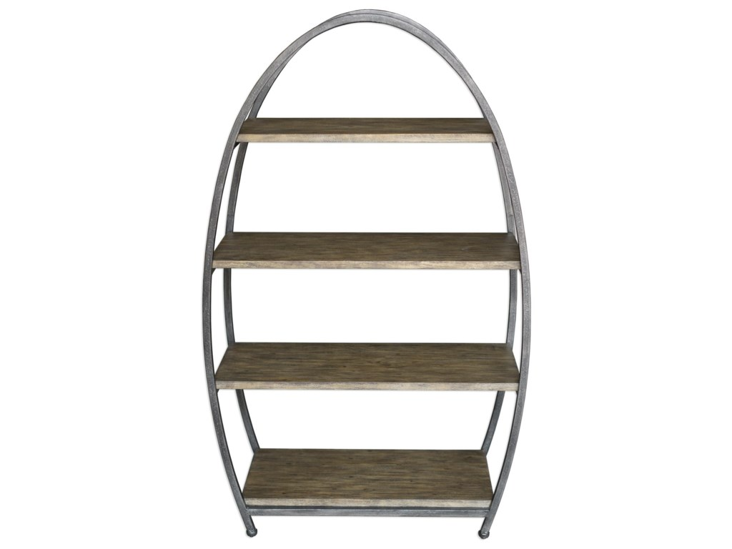 Uttermost Accent Furniture - Bookcases Matisa Textured Steel Etagere