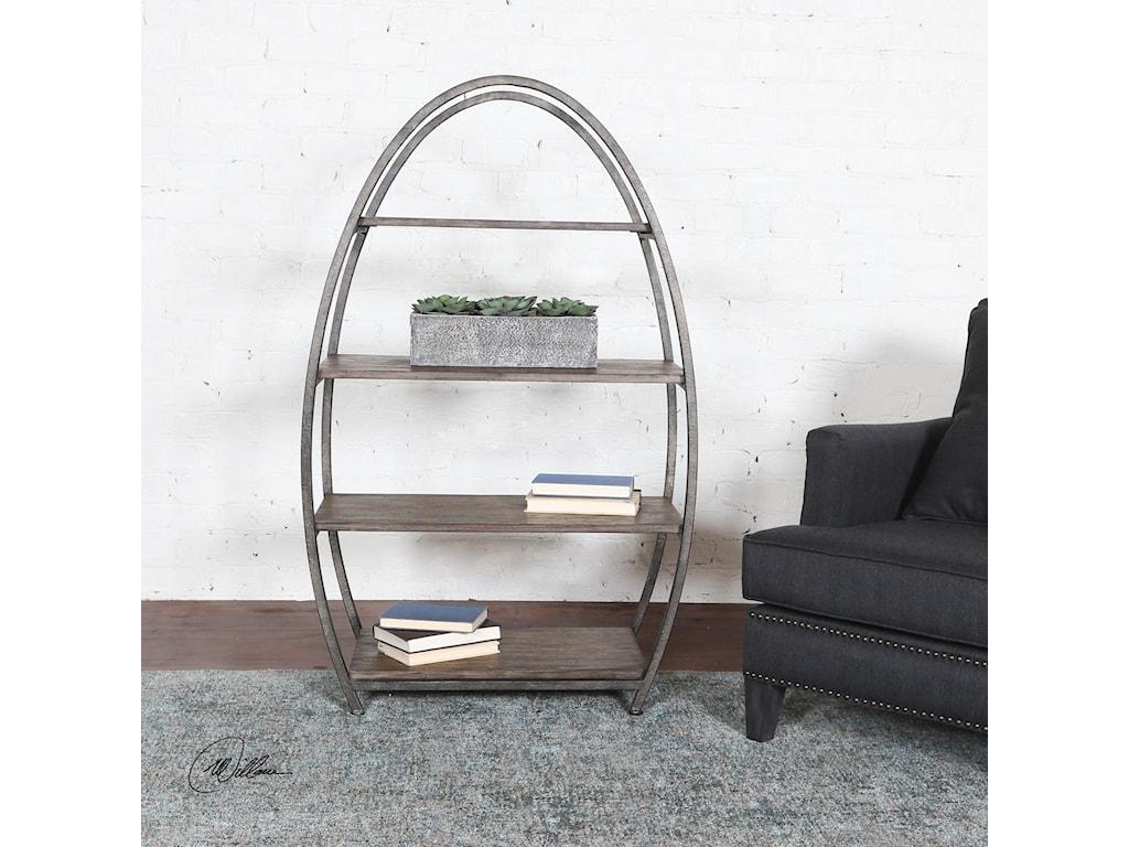 Uttermost Accent Furniture Matisa Textured Steel Etagere