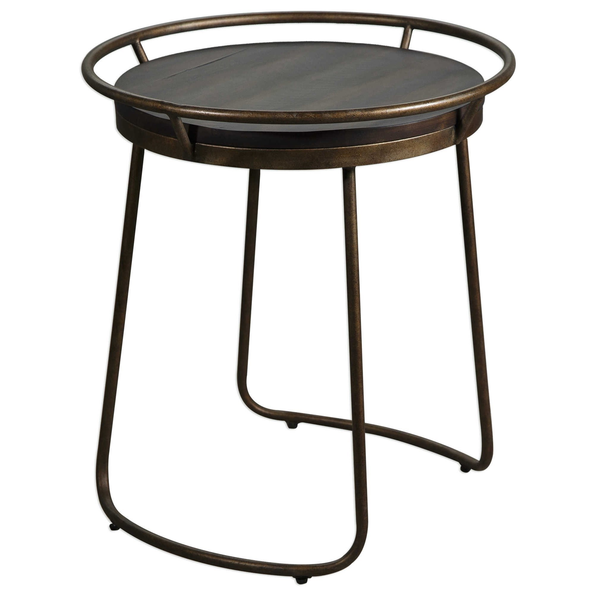 Medium image of uttermost accent furniture rayen round accent table   darvin furniture   end tables