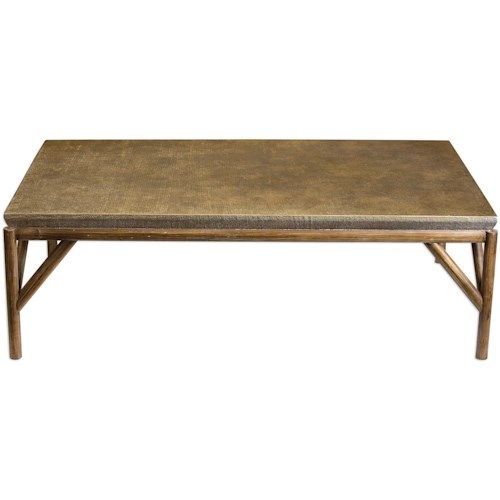Uttermost Accent Furniture Kanti Metallic Champagne Coffee Table