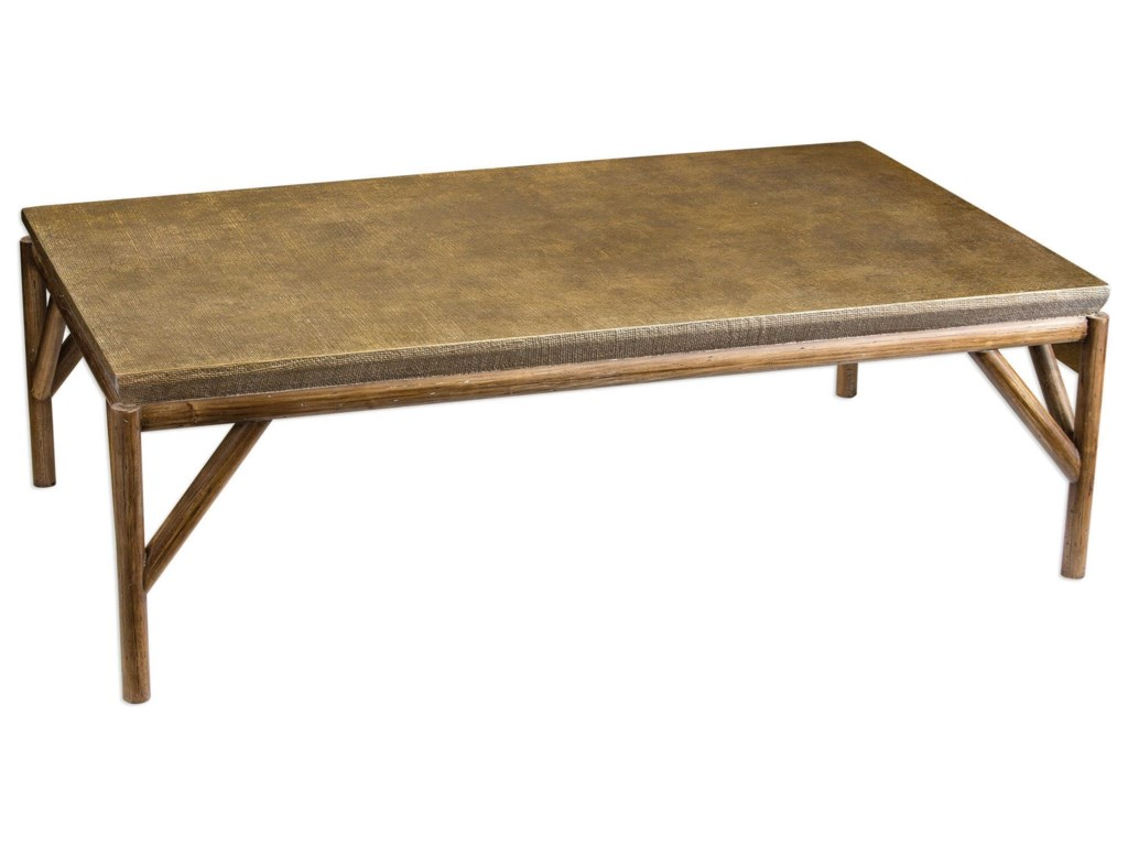 Uttermost Accent FurnitureKanti Metallic Champagne Coffee Table