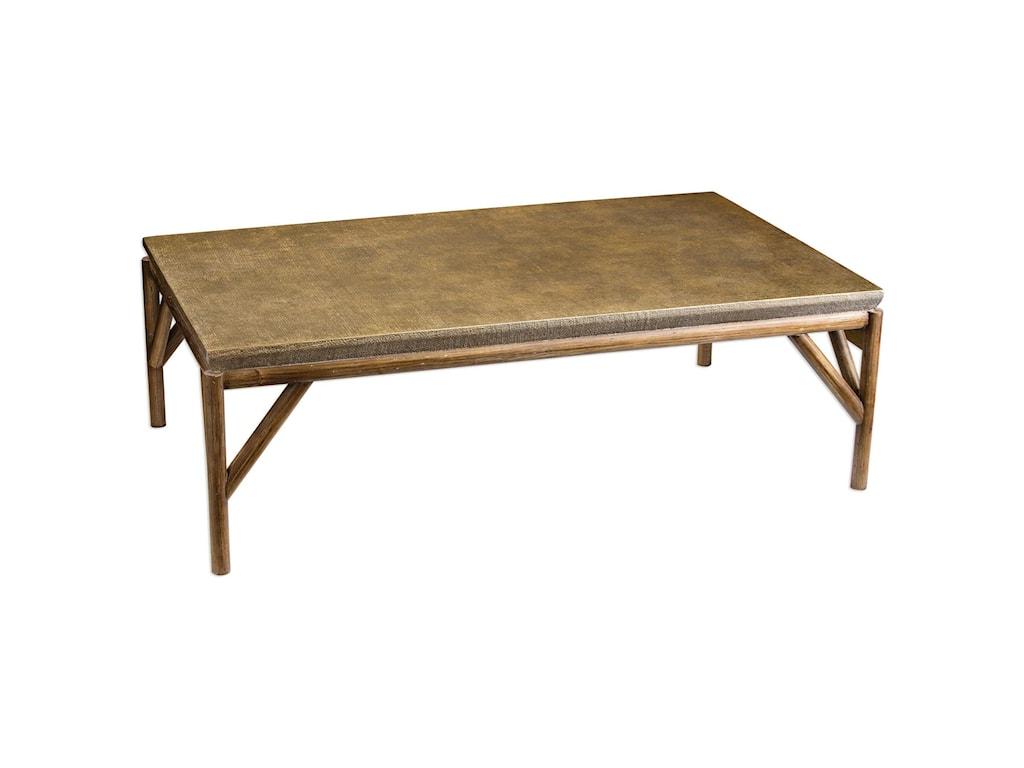 Uttermost Accent FurnitureKanti Metallic Champagne Coffee Table
