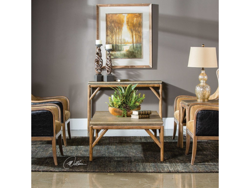 Uttermost Accent Furniture - Occasional TablesKanti Metallic Champagne Coffee Table