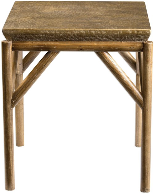Uttermost Accent Furniture Kanti Metallic Champagne End Table