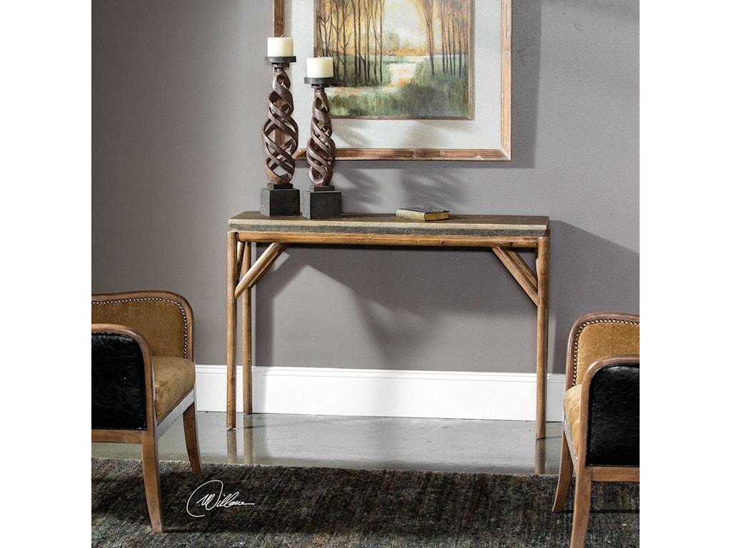 Uttermost Accent FurnitureKanti Metallic Champagne Console Table