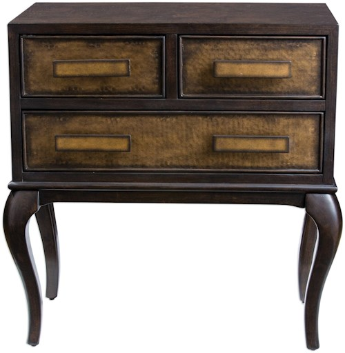 Uttermost Accent Furniture Mayra Ash Burl Accent Chest