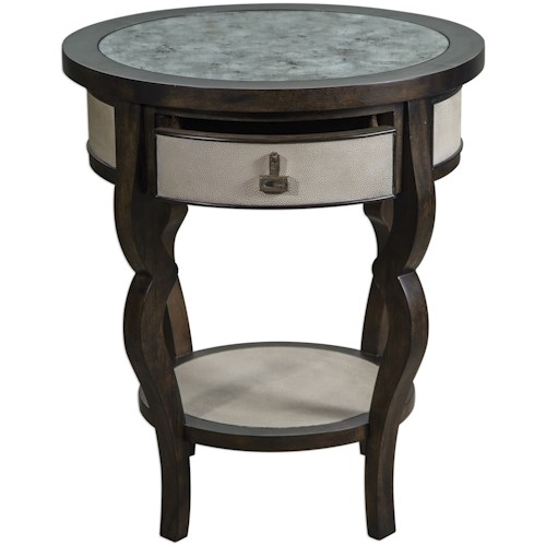 Uttermost Accent Furniture Remy Dark Walnut Accent Table
