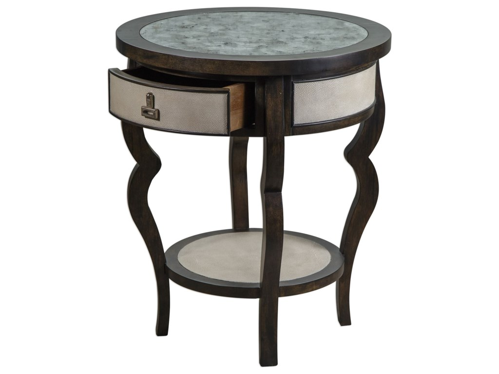 Uttermost Accent FurnitureRemy Dark Walnut Accent Table