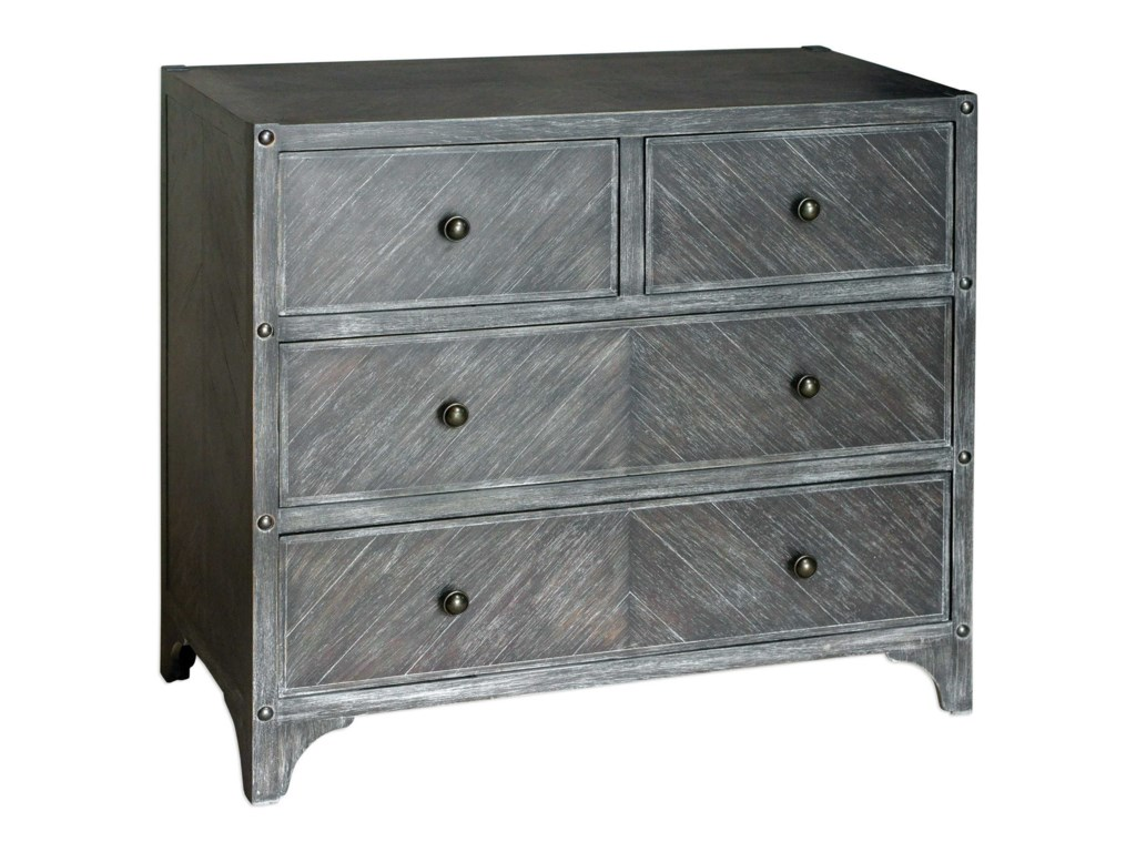 Uttermost Accent Furniture - ChestsBrishen Gray Accent Chest