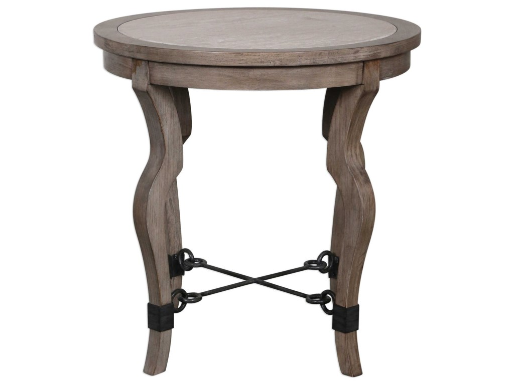Uttermost Accent FurnitureBlanche Travertine Lamp Table