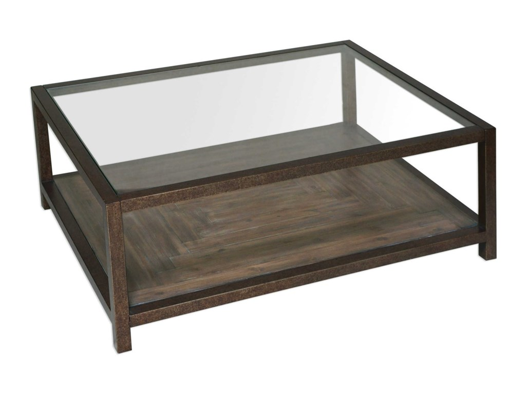 Uttermost Accent FurnitureCarter Bronze & Glass Coffee Table