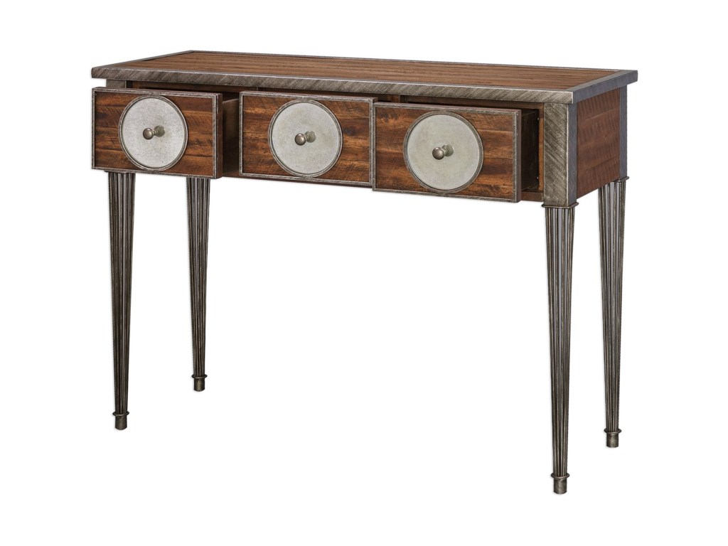 Uttermost Accent FurniturePatten Distressed Walnut Console Table