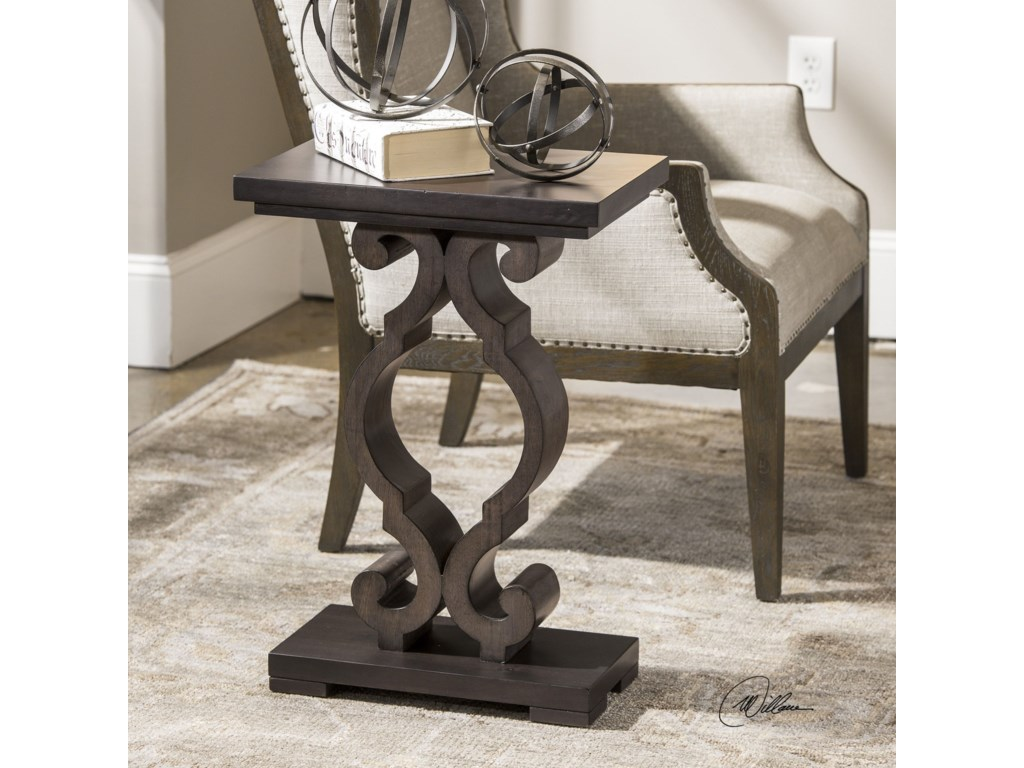 Uttermost Accent Furniture - Occasional TablesParina Ebony Accent Table