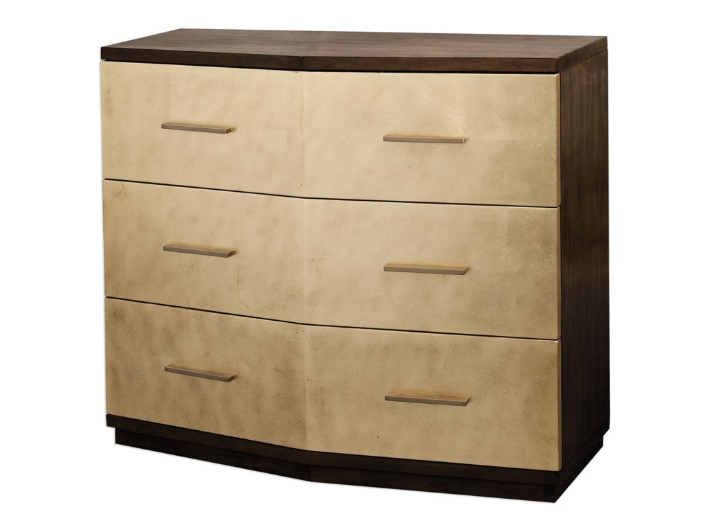 Uttermost Accent Furniture Chests Verdura Brushed Gold Accent