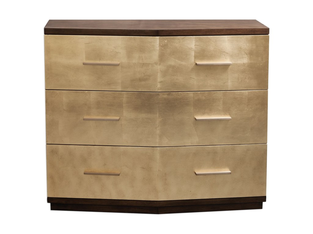 Uttermost Accent FurnitureVerdura Brushed Gold Accent Chest