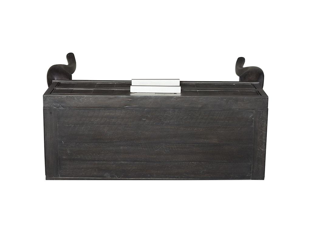 Uttermost Accent FurnitureArrone Soft Black Console Table