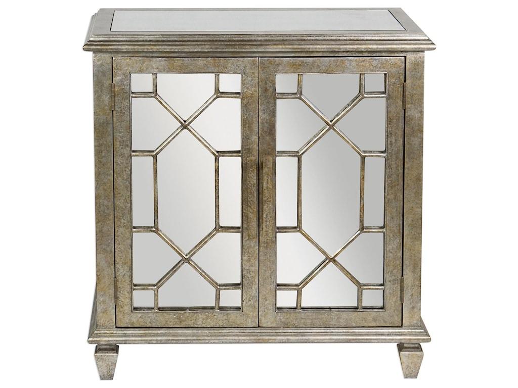 Uttermost Accent FurniturePanaro Golden Bronze Accent Cabinet