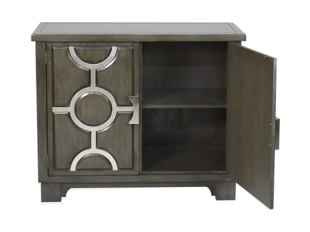 Uttermost Accent Furniture - ChestsCaine Charcoal Accent Cabinet