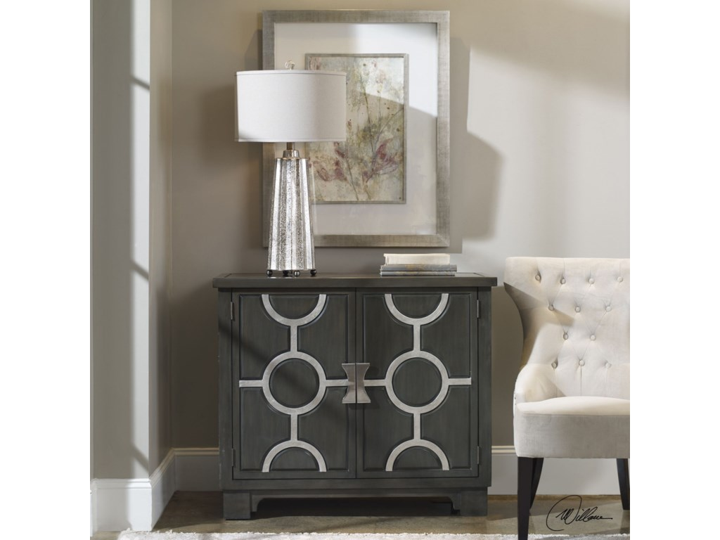 Uttermost Accent FurnitureCaine Charcoal Accent Cabinet