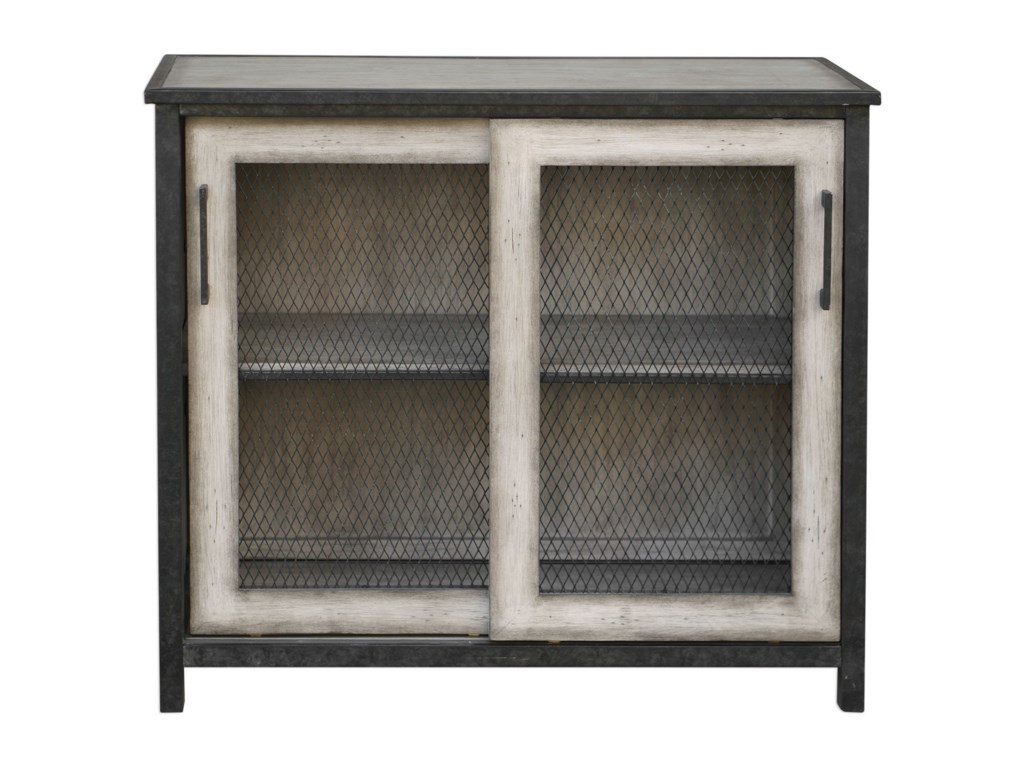 Uttermost Accent FurnitureDylan Wire-Mesh Accent Cabinet