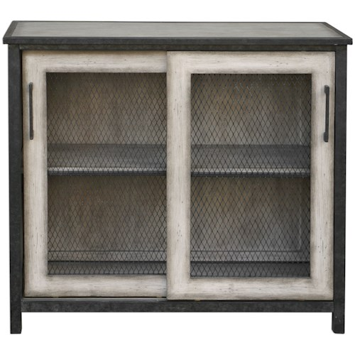 Uttermost Accent Furniture Dylan Wire-Mesh Accent Cabinet