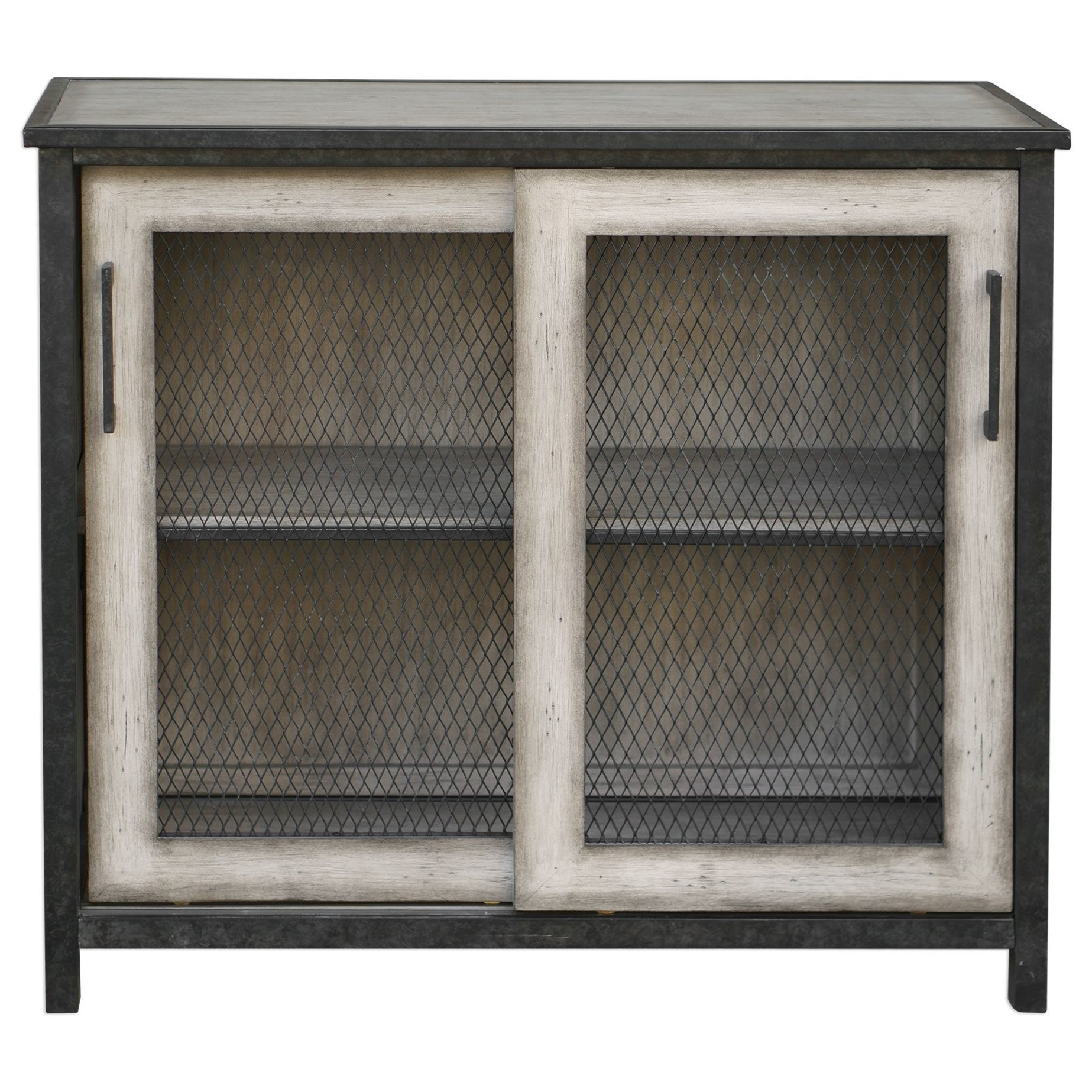 Accent Furniture   Chests Dylan Wire Mesh Accent Cabinet
