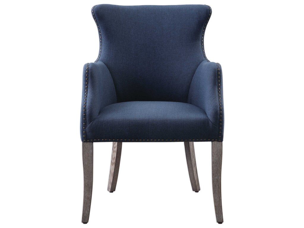 Uttermost Accent Furniture - Accent ChairsYareena Blue Wing Chair