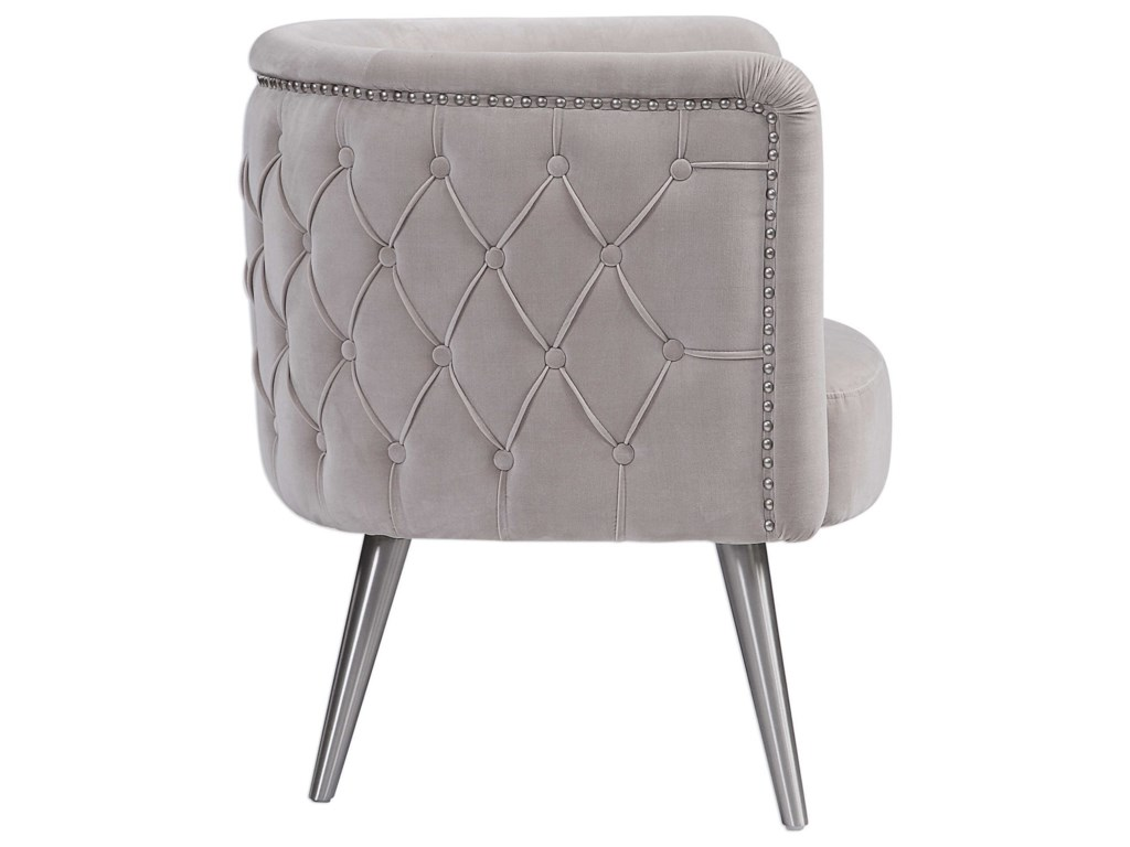 Uttermost Accent Furniture - Accent ChairsHaider Tufted Accent Chair