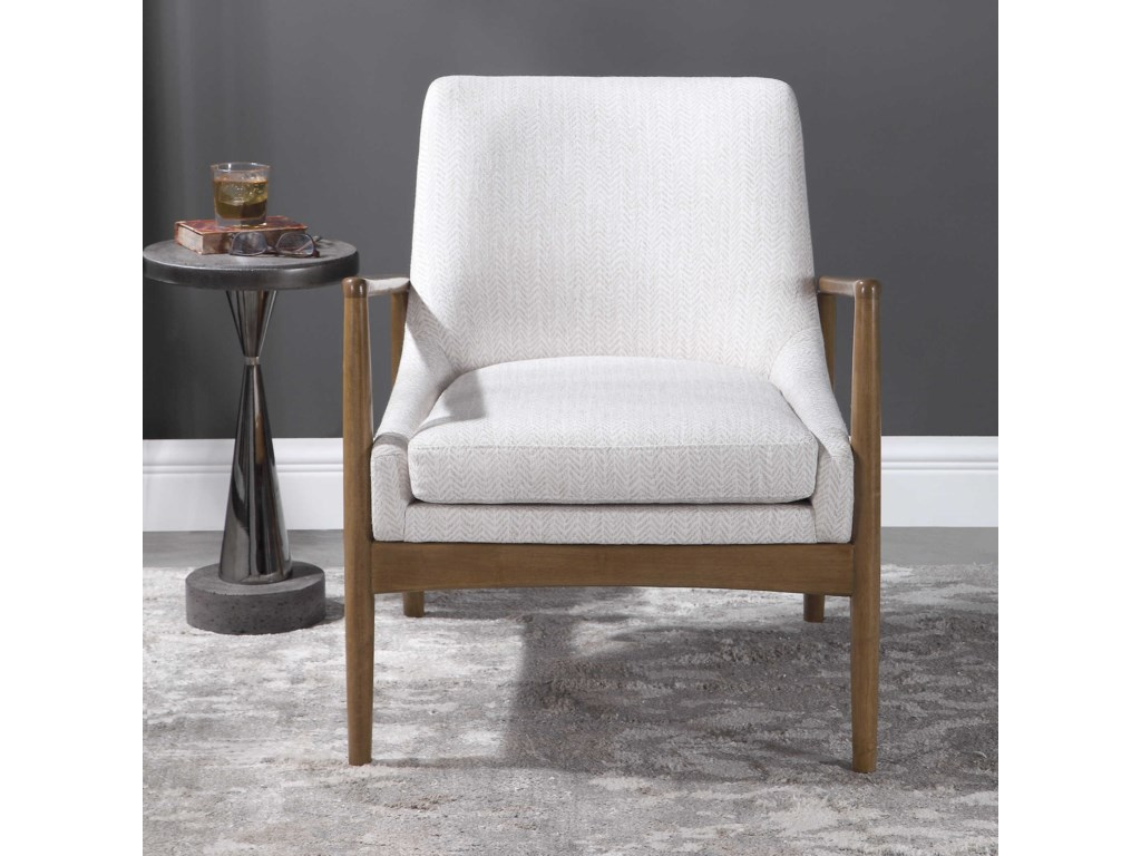 Uttermost Accent Furniture - Accent ChairsBev White Accent Chair