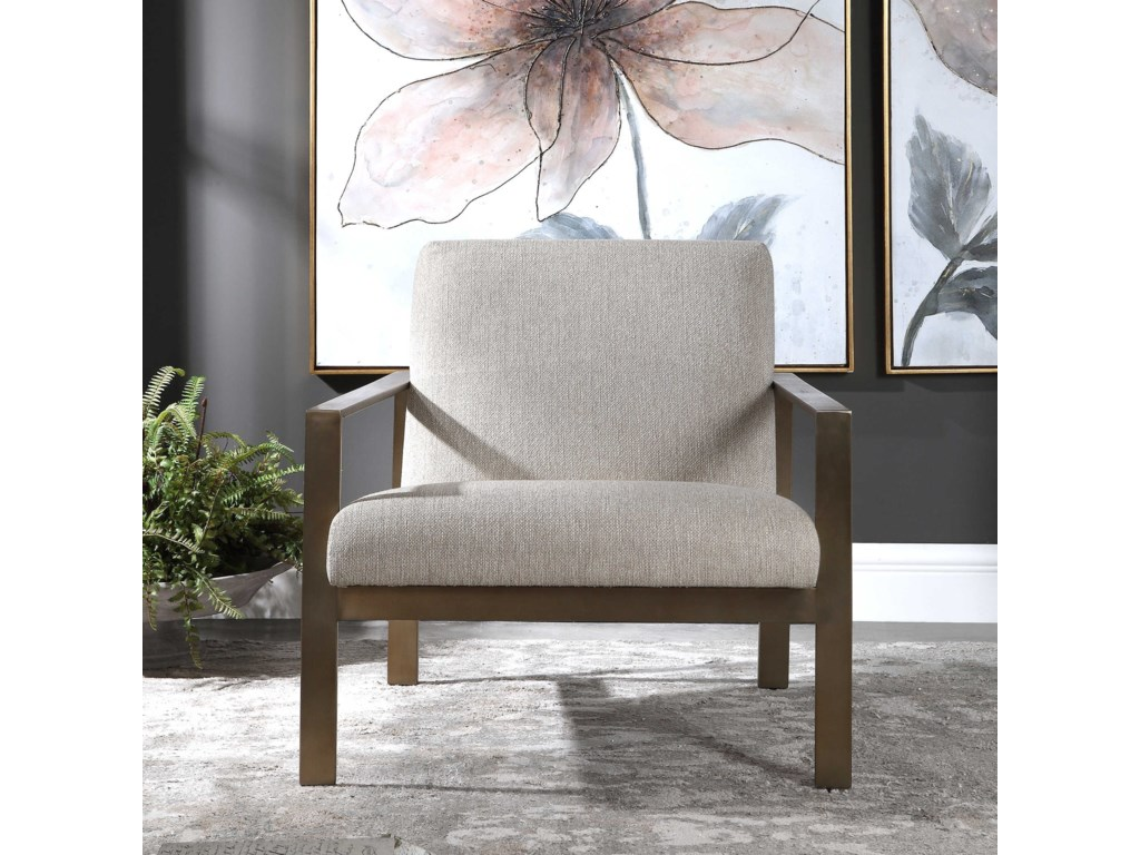 Uttermost Accent Furniture - Accent ChairsWills Contemporary Accent Chair
