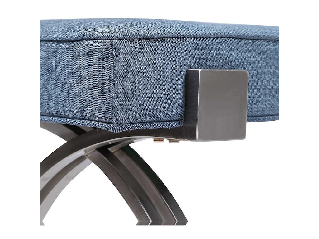 Uttermost Accent Furniture - BenchesMarlin Modern Denim Bench