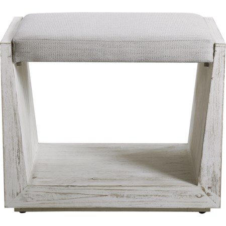 Cabana White Small Bench