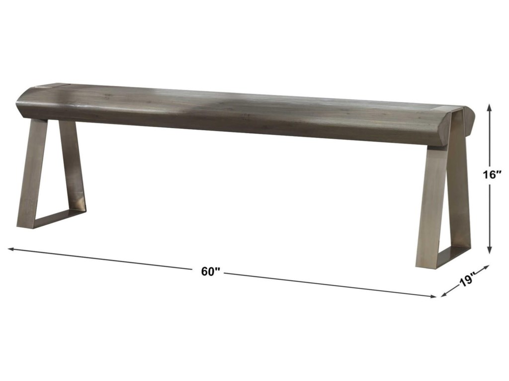 Uttermost Accent Furniture - BenchesAcai Light Gray Bench