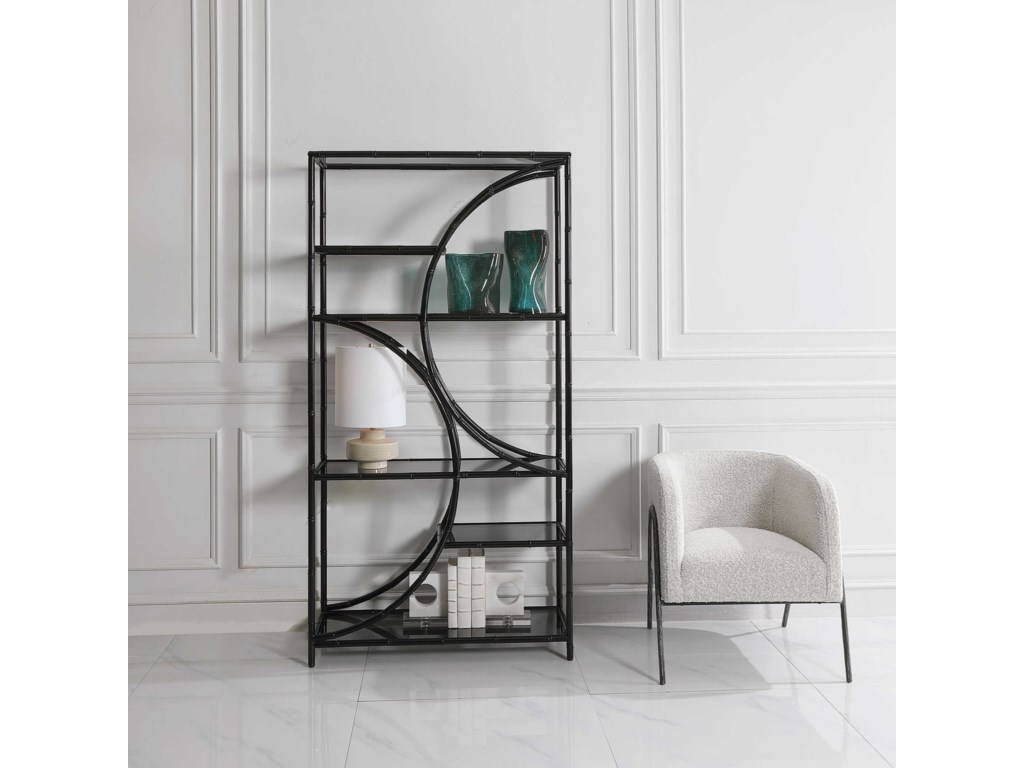 Uttermost Accent Furniture - BookcasesBlack Iron Etagere