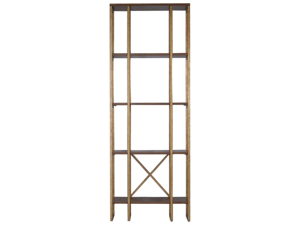 Uttermost Accent Furniture - BookcasesKarishma Antique Gold Etagere