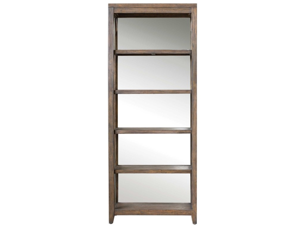 Uttermost Accent Furniture - BookcasesDelancey Weathered Oak Etagere