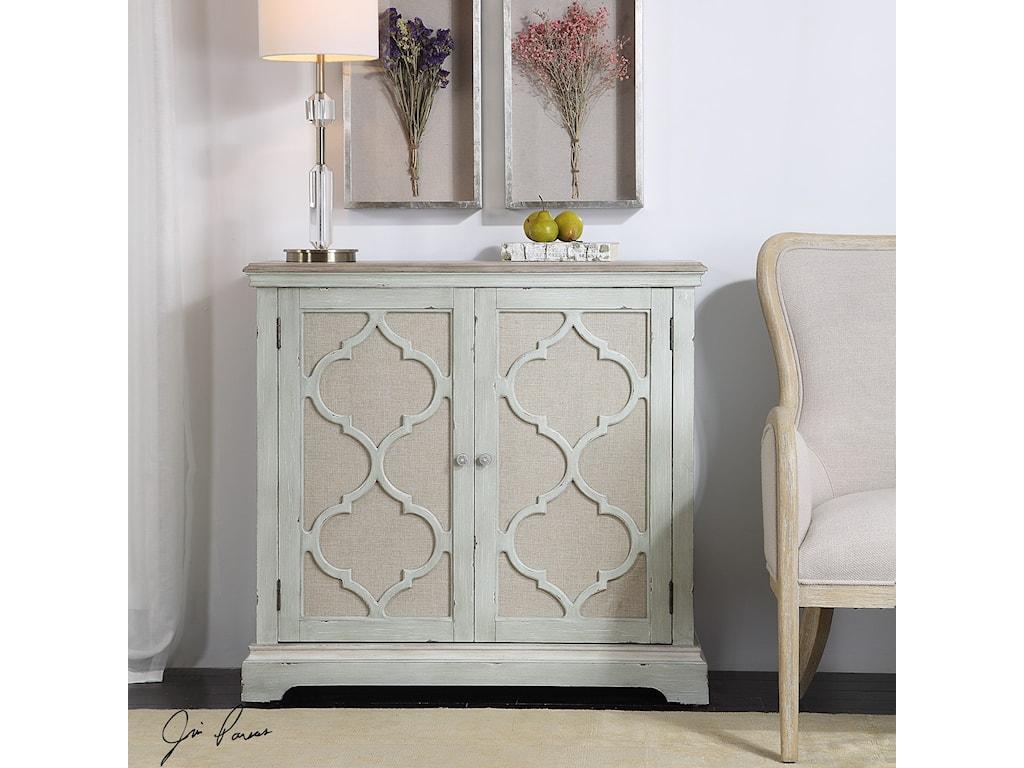 Uttermost Accent Furniture - ChestsSophie Sea Grey 2 Door Cabinet